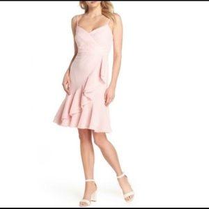 J Crew Spaghetti Strap Ruffle Front Dress